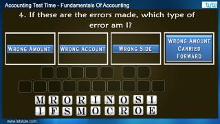 Acconting Test Time#18- Fundamental Of Accounting | Letstute