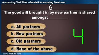Accounting Test Time#14- Treatment of Goodwill | Letstute