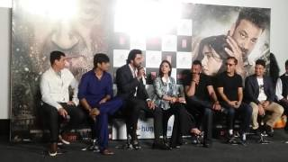 Ranbeer Kapoor Supported Sanjay Dutt At Bhoomi Trailer Launch