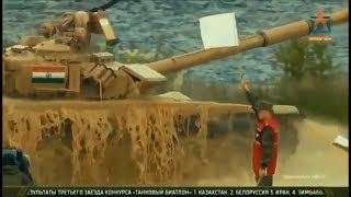 India's main battle tank T-90 in action during International Army Games