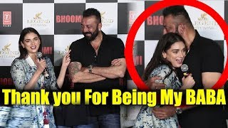 Thank You For Being My Baba | Aditi Rao Hydari About Sanju Baba | Bhoomi Official Trailer Launch