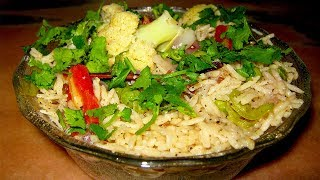 Vegetable pulao in cooker Instant Pulao Recipe