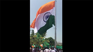 Historical moment of 163 feet high national flag hoisting - Part 2