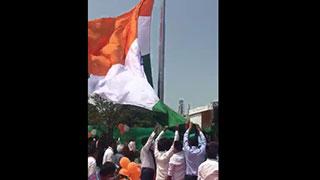 Historical moment of 163 feet high national flag hoisting - Part 1