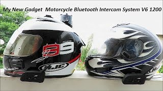 My New Gadget. Motorcycle Bluetooth Intercom System V6 1200.