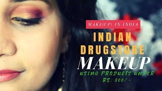 Full Face - All Indian Drugstore Brands | Makeup Under Rs.500/- | Lakme, Nykaa, Blue Heaven & More