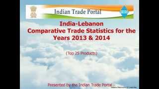 India - Lebanon Trade Statistics