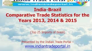 India - Brazil Trade Statistics 2015-2016