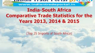India - South Africa Trade Statistics 2015-2016