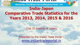 India - Japan Trade Statistics 2016-2017
