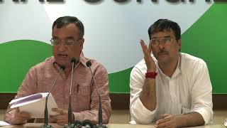 AICC Press Briefing By Ajay Maken at Congress HQ, August 18, 2017