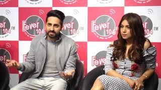 "Ayushmann Khurrana & Bhumi Pednekar Visit Radio Station To Promote ""Kanha"" Song At Fever 104 FM"
