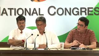 AICC Press Briefing By Manish Kumar and Ajoy Kumar at Congress HQ, August 21, 2017