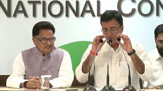 AICC Press Briefing By Randeep Surjewala and P L Punia at Congress HQ, August 22, 2017