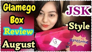 GlamEgo Box August 2017 Review | India's Top Beauty Subscription Box | JSuper Kaur Style
