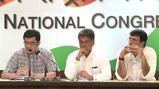 AICC Press Briefing By Manish Tewari & Dr. Ajoy Kumar on Bihar Srijan Scam, August 23, 2017
