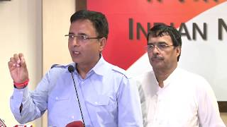 AICC Media Byte by Randeep Surjewala on at congress HQ, August 23, 2017