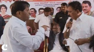 Congress leaders in Bengaluru fight over chairs