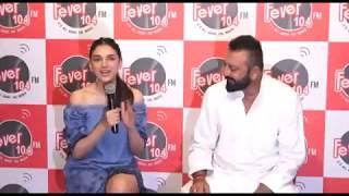 Sanjay Dutt & Aditi Rao Hydari Spotted At Fever 104 Fm For Promoting Film Bhoomi