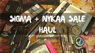 NYKAA + Sigma Haul | Maybelline, Lakme, LA Girl & NYX | Nidhi Katiyar