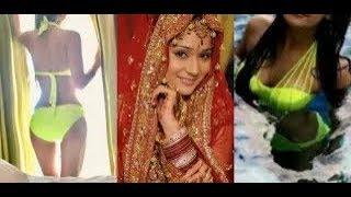 Sexy Teen Girl Sara Khan Exposing Her Body in Bikini Show