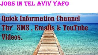 Jobs in TEL AVIV YAFO   City for freshers & graduates. industries, companies. ISRAEL
