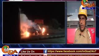 [WATCH] CAR CATCHES FIRE AT DABOLIM