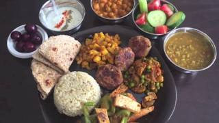 Veg Punjabi Thali Recipe - Veg Thali Menu | How to prepare Thali at home in two hours