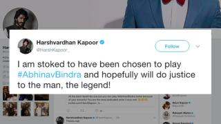 Harshvardhan to essay Shooter Abhinav Bindra in biopic