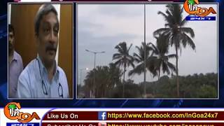 PARRIKAR SAYS GUIRIM COCONUT TREES WONT BE FELLED,TO BE USED IN MEDIANS