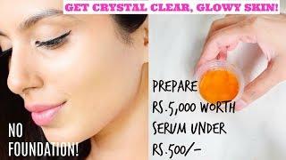 DIY GLOW SERUM! Get Radiant, Shiny, Crystal Clear Skin in a week!!!