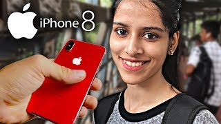 iPhone 8 Reaction on Cute Girls - iPhone 8 or Samsung Galaxy Note 8