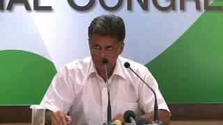 AICC Press Briefing By Manish Tewari at Congress HQ, September 13, 2017