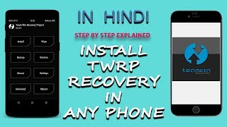 How to Install TWRP Recovery File in Lenovo A6000 Without PC | Hindi | Tech Render |