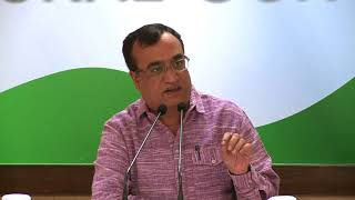 AICC Press Briefing by Ajay Maken at Congress HQ , September 15, 2017