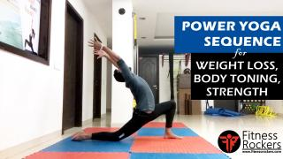 Yoga for weight loss | Yoga for body toning | Power Yoga with Atul | Fitness Rockers