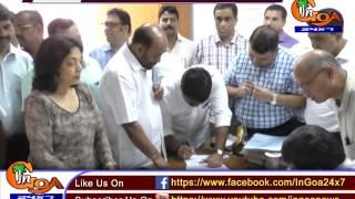 BJP'S VINAY TENDULKAR FILES NOMINATION; CONGRESS' SHANTARAM NAIK FILED HIS NOMINATION