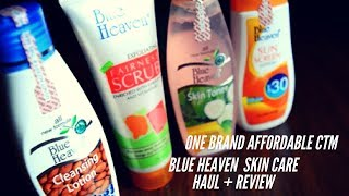 Skin Care Under Rs. 100/- | Blue Heaven Skin Care Haul + Review | One Brand CTM Routine