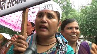 AAP Protest Against Unjustified Hike in Petrol & Diesel