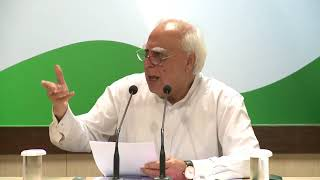 AICC Press Briefing By Kapil Sibal at Congress HQ, September 22, 2017