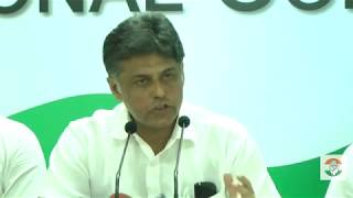 AICC Press Briefing By Manish Tiwari at Congress HQ, September 25, 2017