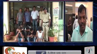ANJUNA POLICE NABBED 5 PEOPLE WHO WERE ALLEGEDLY POSSESSING DRUGS