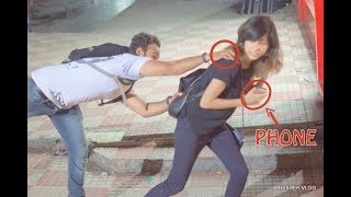 Hot Girl Stealing People's Cell Phones PRANK!! | ANB Team| Pranks In India