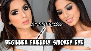 EASY SMOKEY EYE For BEGINNERS Using ONLY 1 PRODUCT!