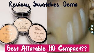 Blue Heaven UHD Compact   Review, Demo and Swatches   All 4 Shades   Best Affordable Compact