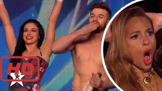SEXY SKATERS SCARE JUDGES On Britain's Got Talent! He Nearly Takes Her Head Off!! Got Talent Global