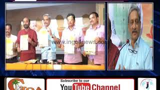 BJP RELEASES ITS MANIFESTO; PARRIKAR CONFIDENT OF WINNING