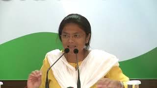 AICC Press Briefing By Sushmita Dev at Congress HQ, September 29, 2017