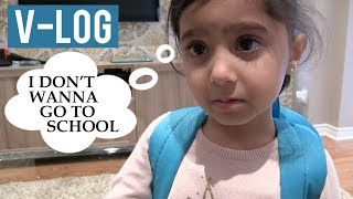 V-LOG: AAFIE doesn't wanna go to SCHOOL! (Hindi / Punjabi)