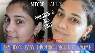 Chemical Free | DIY 100% Organic facial at home | #KARWACHAUTHWEEK | Nidhi Katiyar